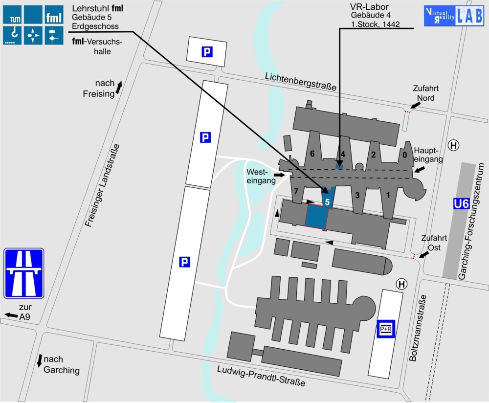 Lageplan TU München, Lehrstuhl fml